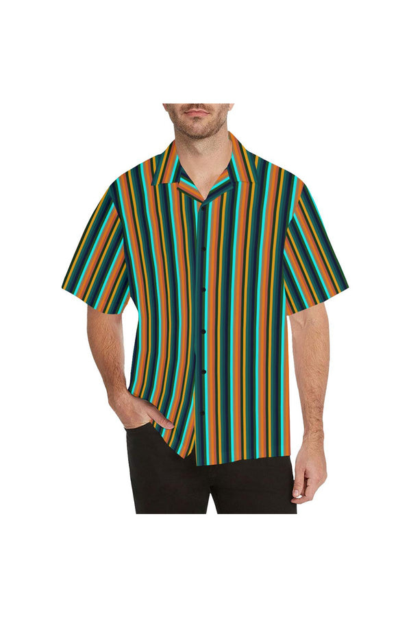 Tropical Stripes Hawaiian Shirt