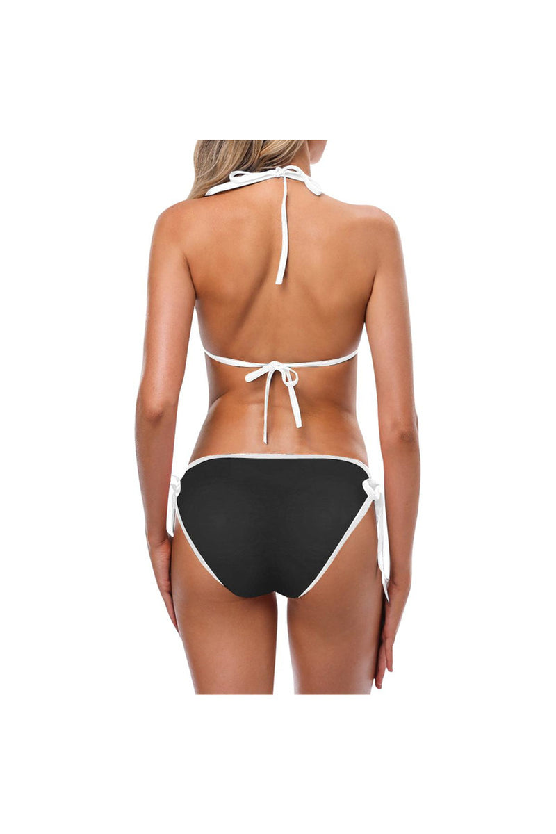 bw stripes 2 Custom Bikini Swimsuit (Model S01)