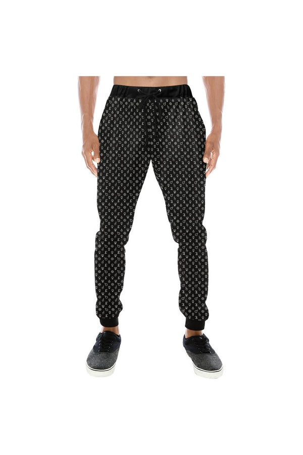 Planetary Symbols Men's All Over Print Sweatpants (Model L11)