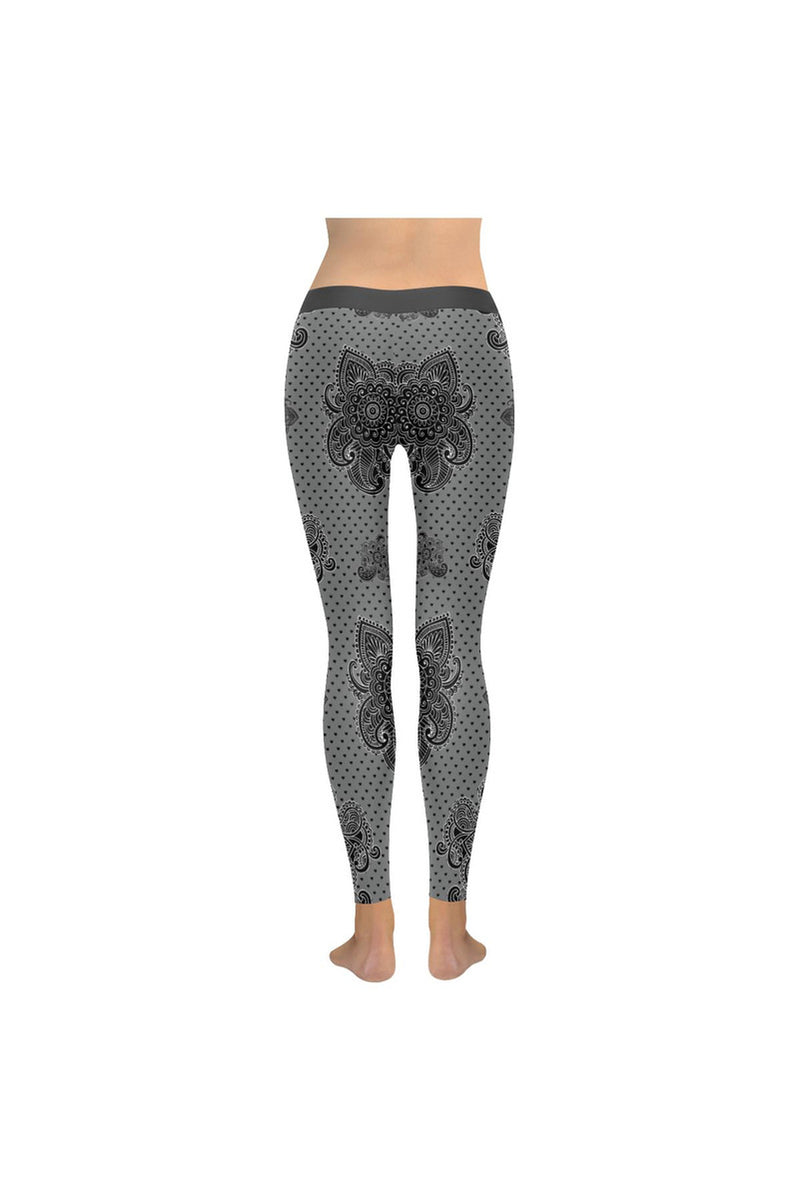 Paisley Hearts Low Rise Leggings (Invisible Stitch) - Objet D'Art Online Retail Store