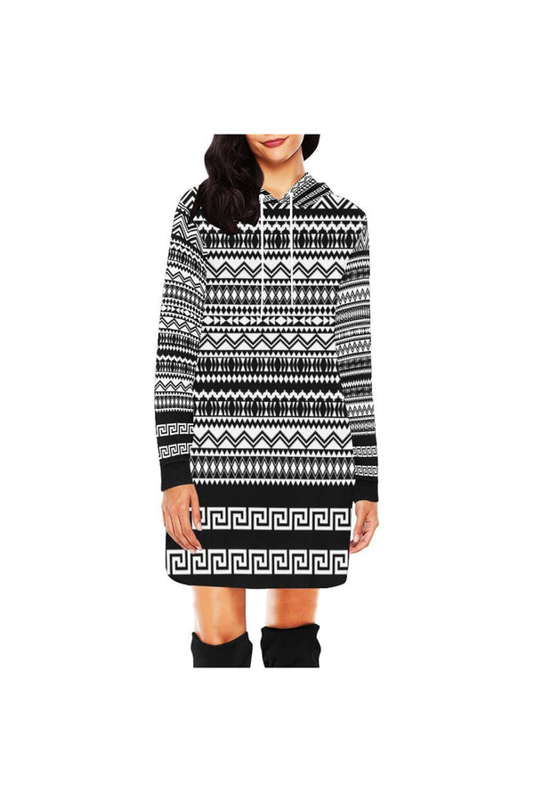 Aztec Hoodie Mini Dress