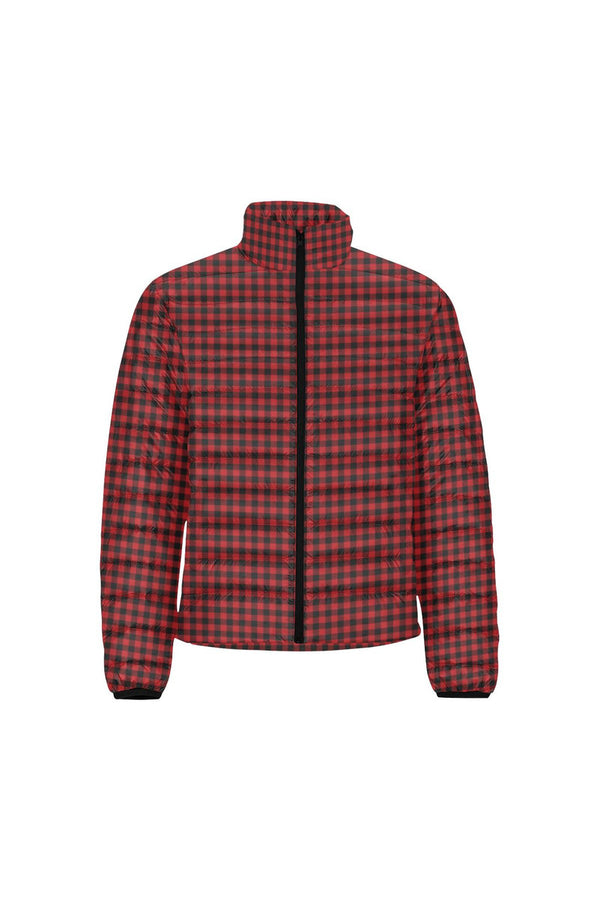 Buffalo Plaid Men's Stand Collar Padded Jacket