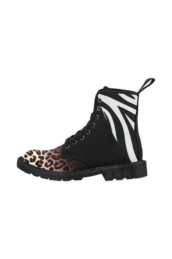 Big Cat Print Martin Boots for Women