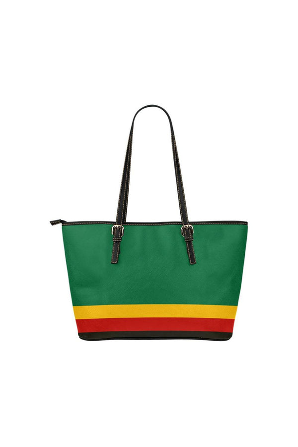 Pan African Colors Leather Tote Bag/Small