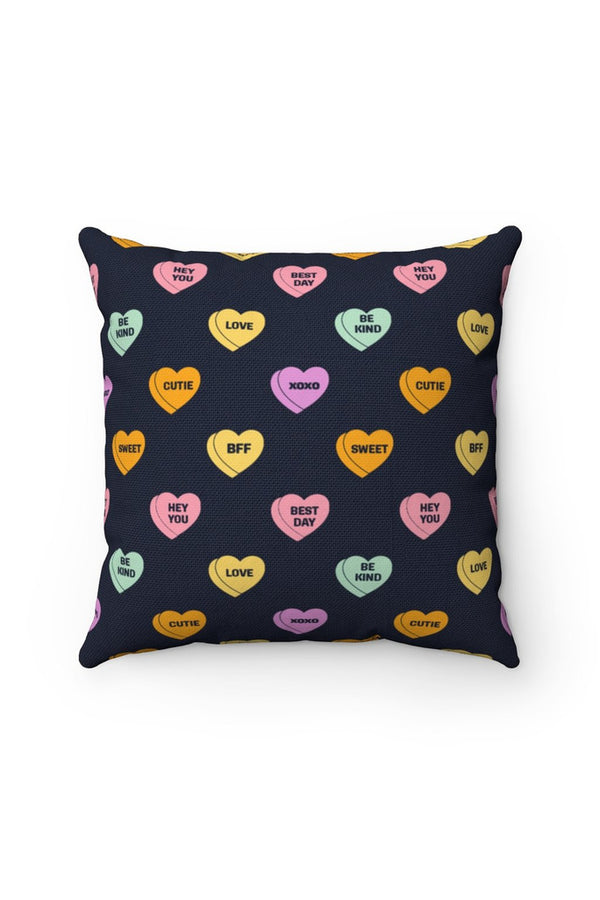 Sweet Valentine's Day Candy Spun Polyester Square Pillow