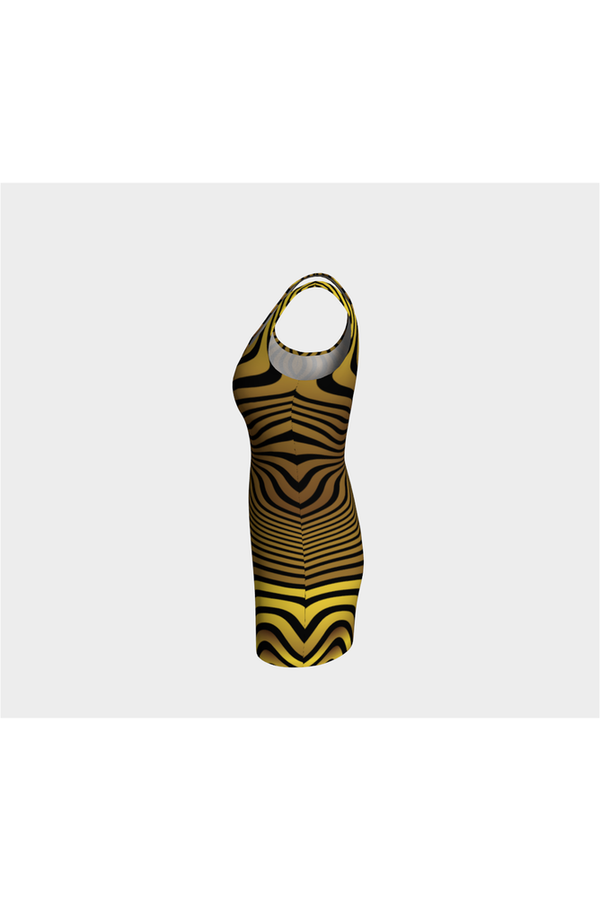 Abstract Tigress Bodycon Dress
