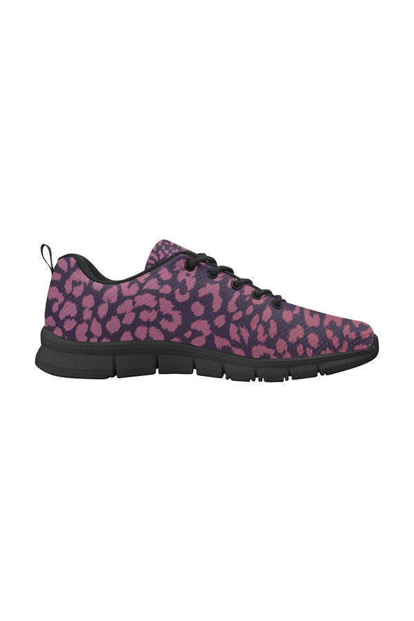 Berry Leopard Print Men's Breathable Running Shoes - Objet D'Art Online Retail Store