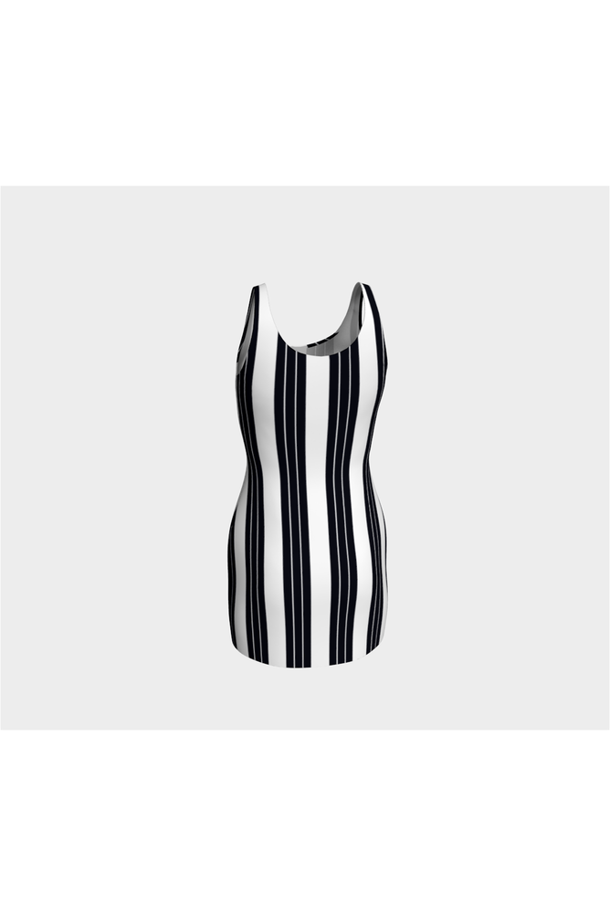Vertical Stripes Bodycon Dress