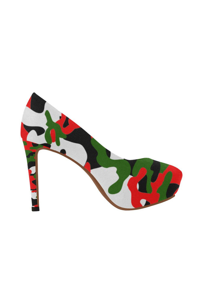 Christmas Camo Women's High Heels - Objet D'Art Online Retail Store