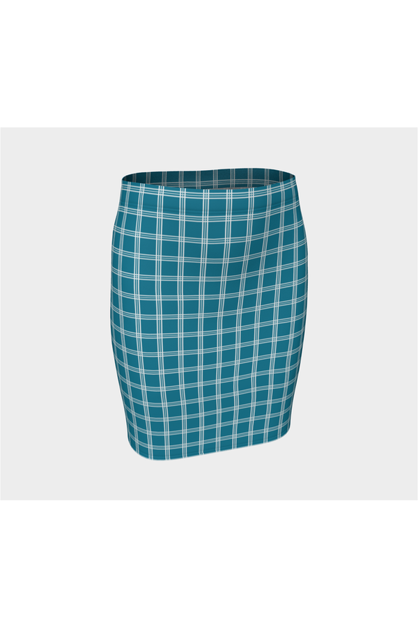 Tattersall Blue Fitted Skirt