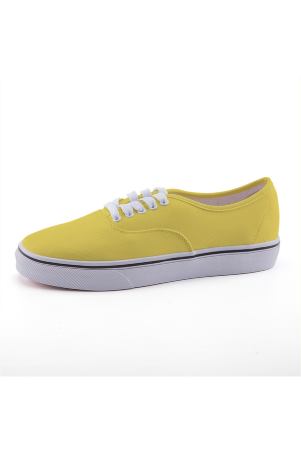 Canary Yellow Low-top Canvas Shoes