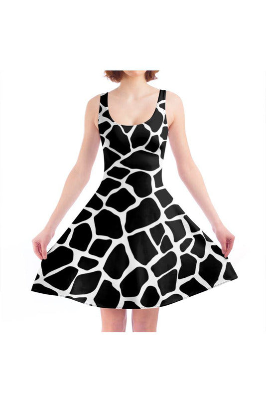Giraffe Print Skater Dress