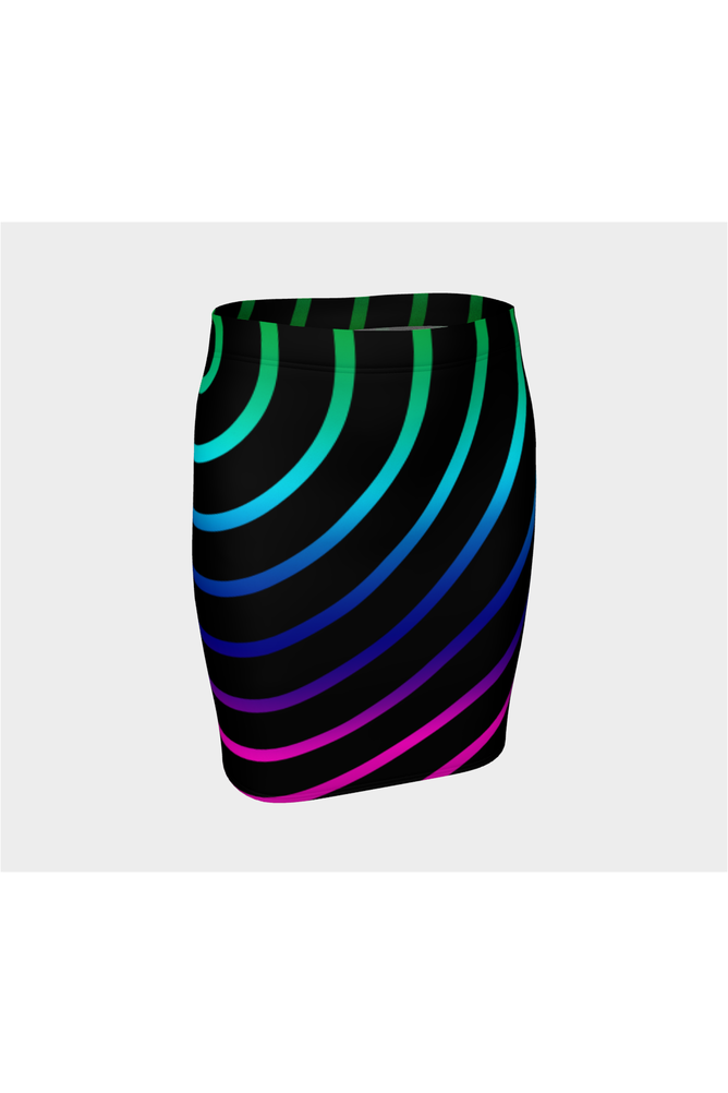 Concentric Rainbows Fitted Skirt - Objet D'Art Online Retail Store