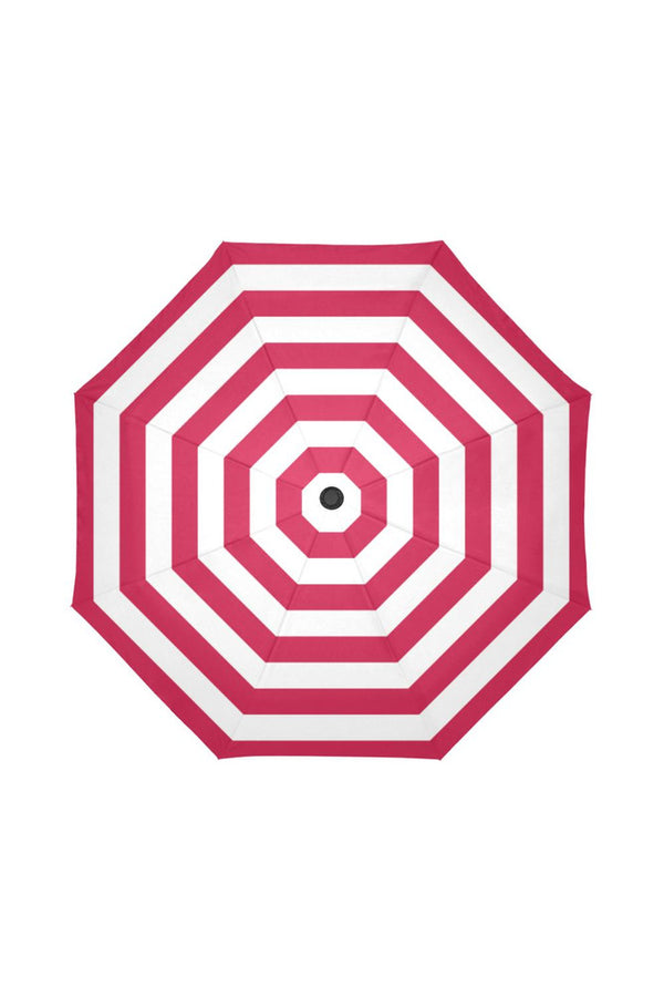 Red & White Stripes Auto-Foldable Umbrella (Model U04)