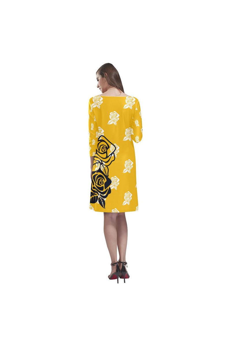 Golden Rose Rhea Loose Round Neck Dress - Objet D'Art Online Retail Store