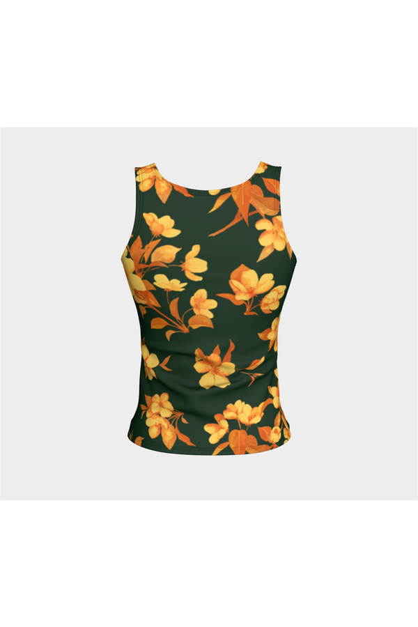 Floral Fitted Tank Top