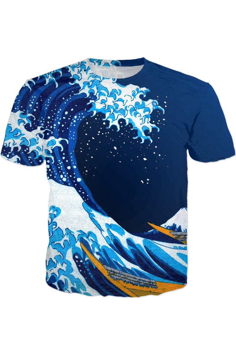 The Great Wave off Kanagawa (Bright & Colorful)