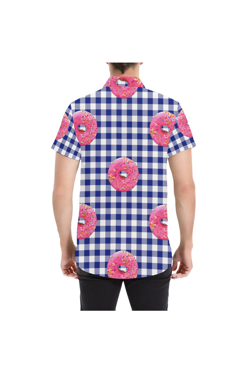 I Brought Donuts Men's All Over Print Short Sleeve Shirt - Objet D'Art Online Retail Store