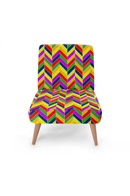 Herringbone Rainbow Occasional Chair