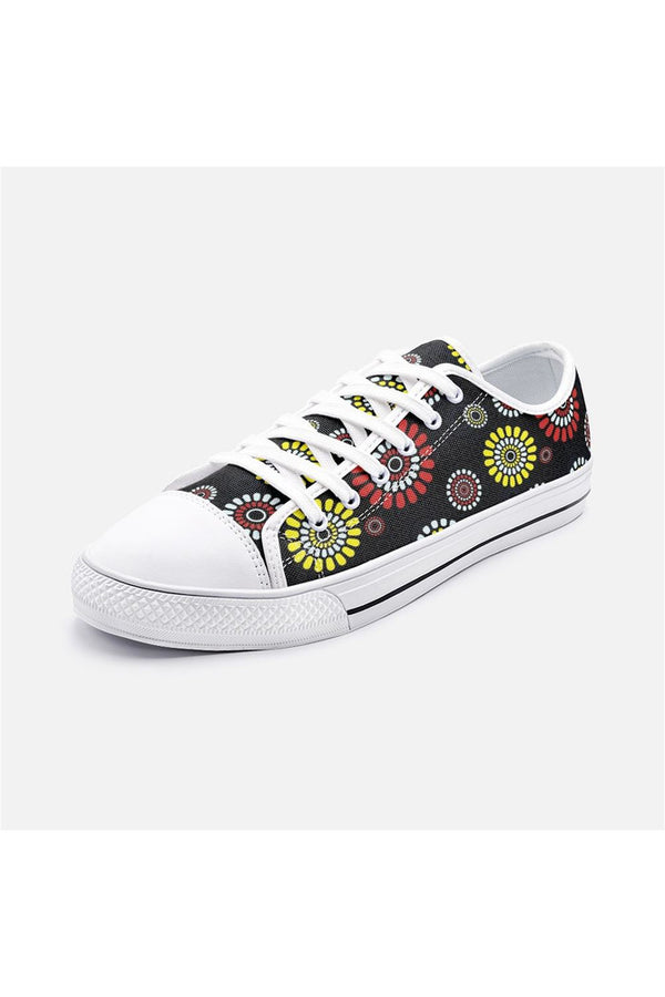 Daisy Wheel Unisex Low Top Canvas Shoes