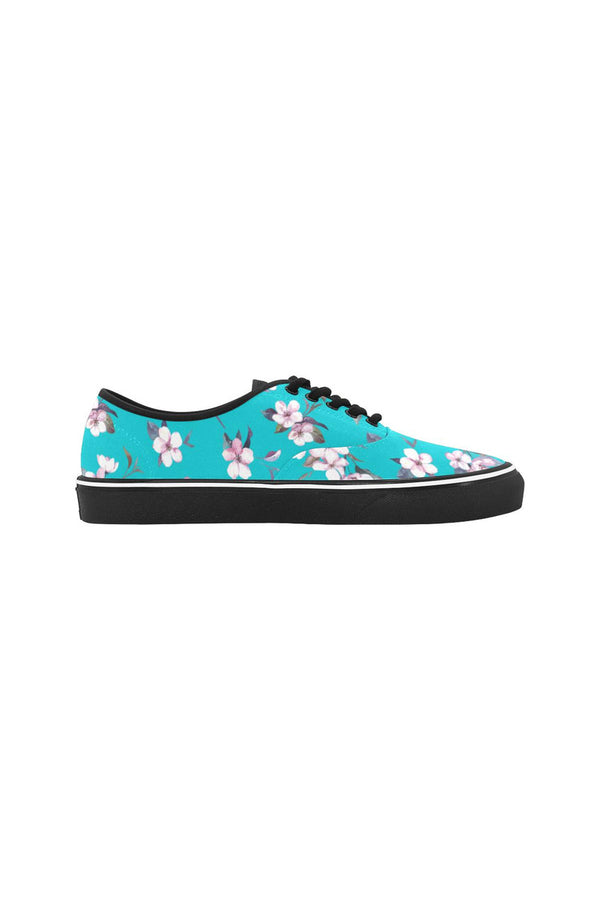 Morning Garden Classic Women's Canvas Low Top Shoes (Model E001-4)