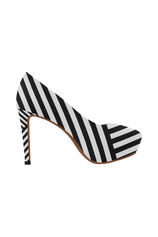 Uniquely Striped Women's High Heels - Objet D'Art Online Retail Store