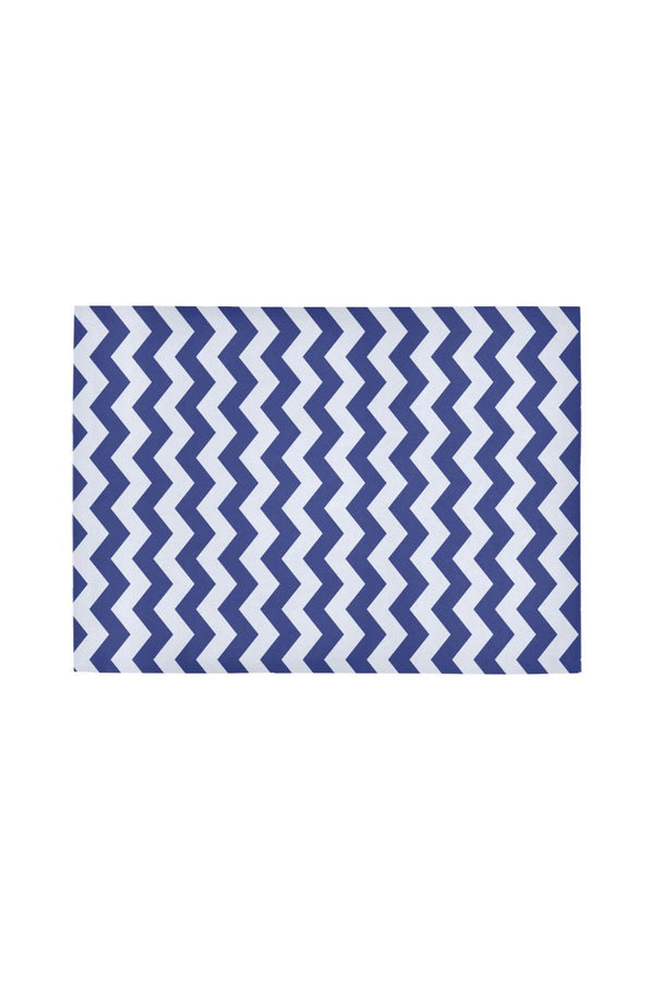 Blue Vibrations Area Rug7'x5'