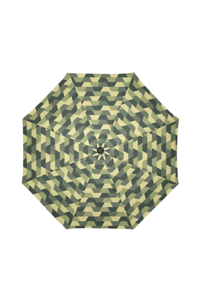 Camouflage Woodland Abstract Auto-Foldable Umbrella (Model U04) - Objet D'Art Online Retail Store