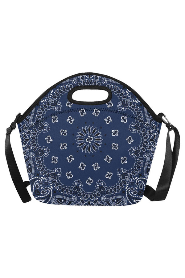 blue bandanna Neoprene Lunch Bag/Large (Model 1669)