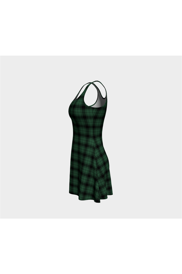 Comfy Plaid Flare Dress