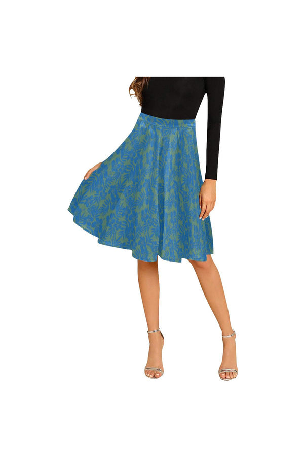 Hibiscus Melete Pleated Midi Skirt