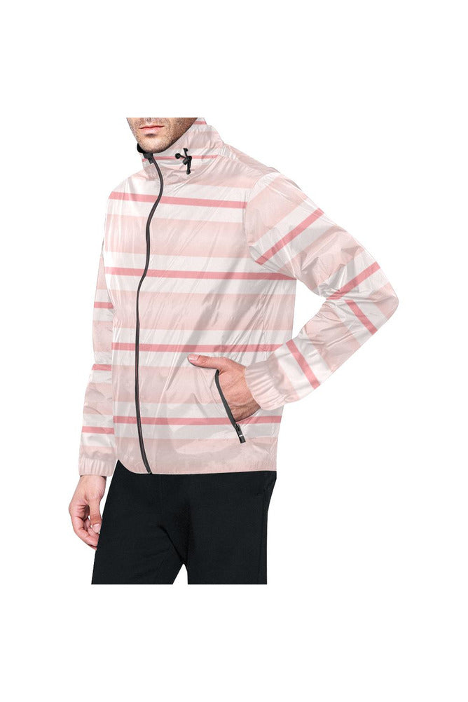 Think PInk All Over Print Windbreaker for Men