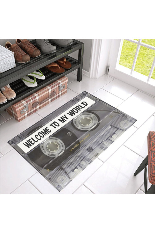 "Welcome to my World Azalea Doormat 30"" x 18"""