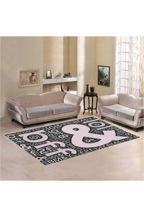 Text Jargon Area Rug7'x5'