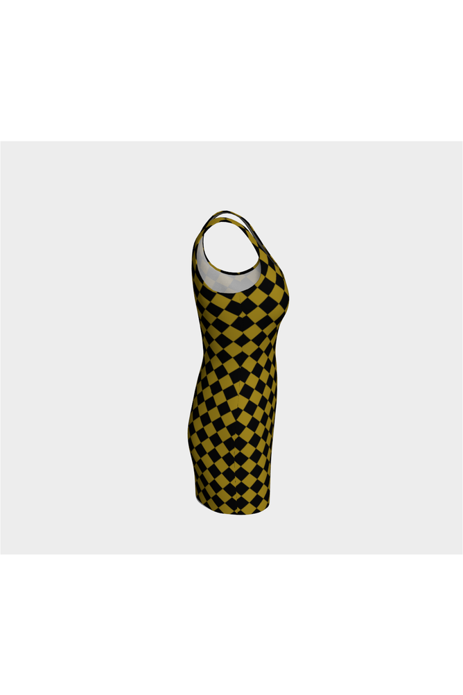 Black and Gold Diamonds Body-con Dress - Objet D'Art Online Retail Store