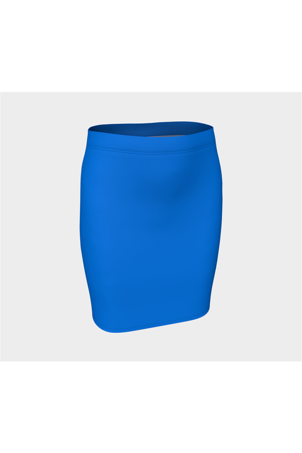 Coral Blue Fitted Skirt