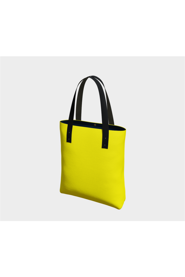 Bright Yellow Tote Bag