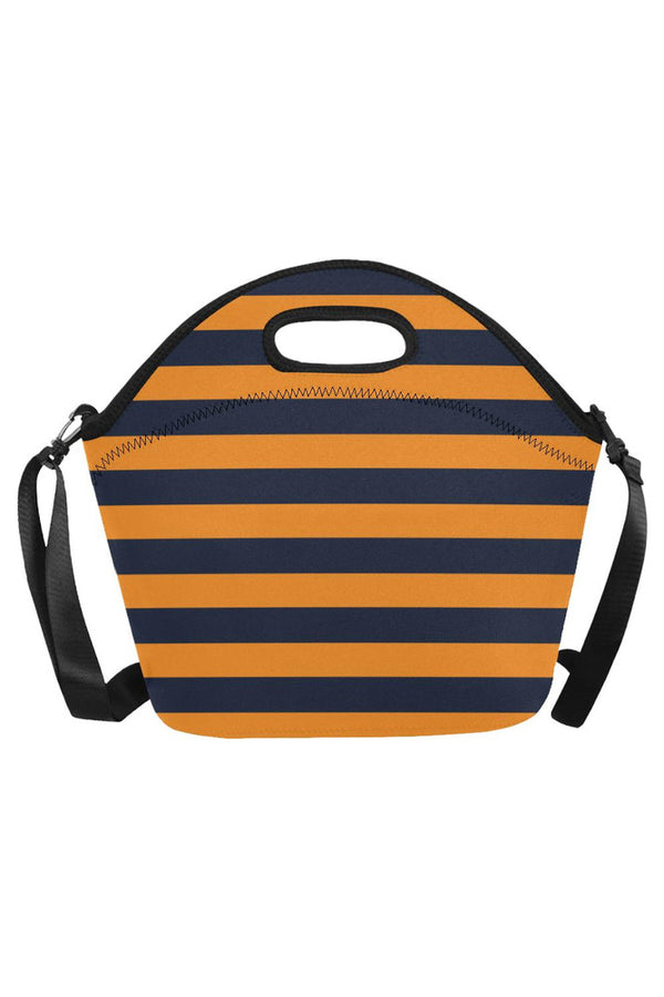 gold blue Neoprene Lunch Bag/Large (Model 1669)