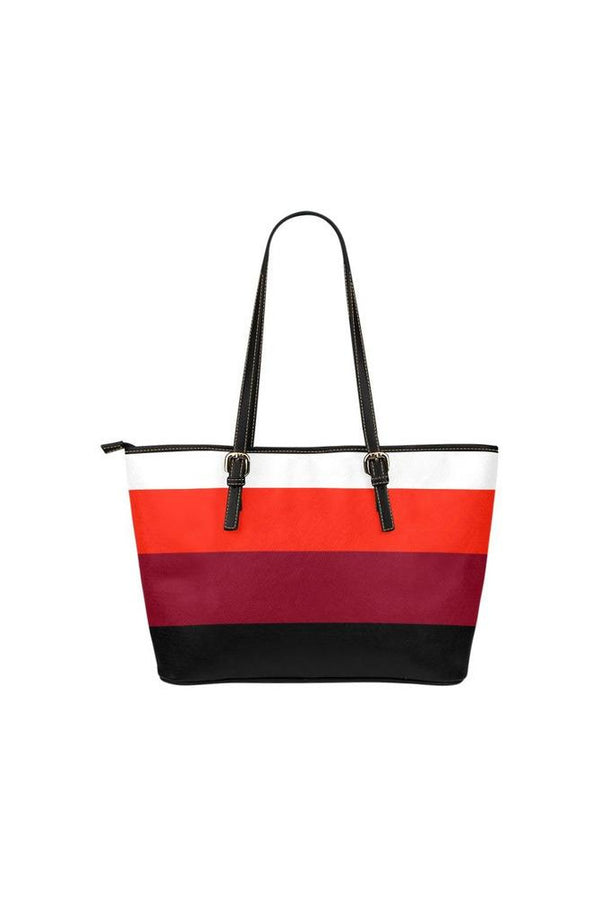 Color Striped Tote Bag Leather Tote Bag/Small