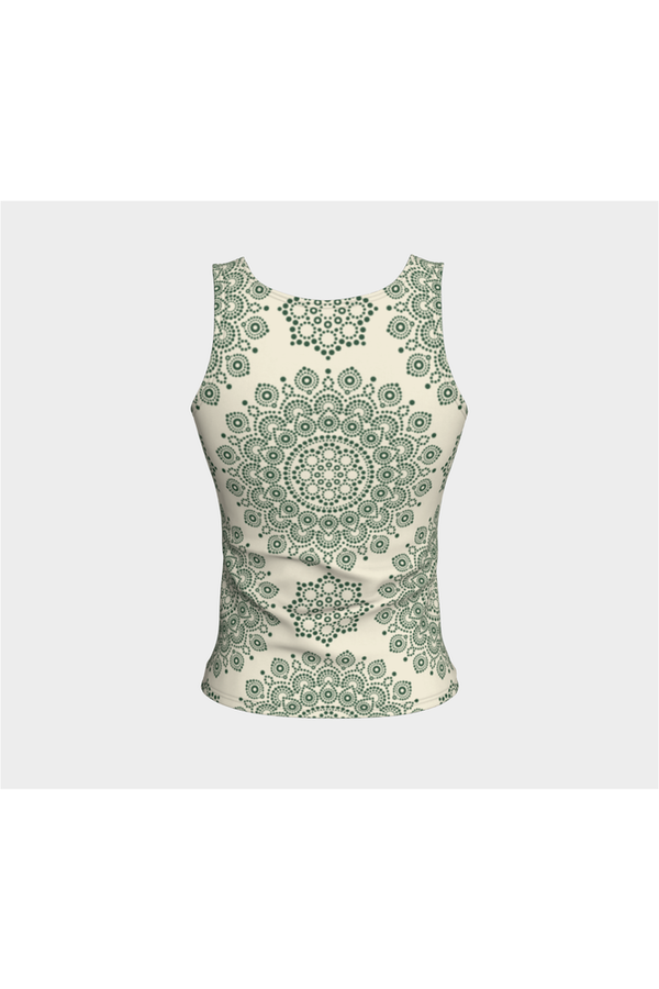 Forest Green Mandala Fitted Tank Top