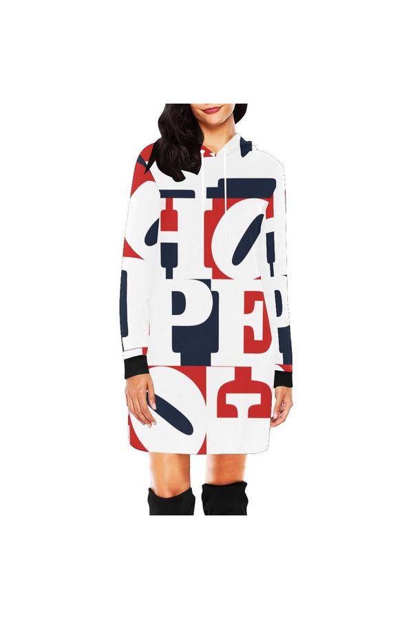 Big Hope All Over Print Hoodie Mini Dress