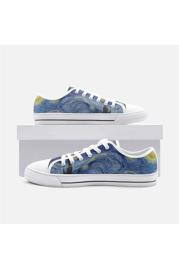 Van Gogh's Starry Night Unisex Low Top Canvas Shoes