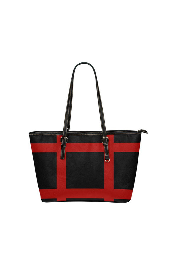 Grid Lock Tote Bag Leather Tote Bag/Small