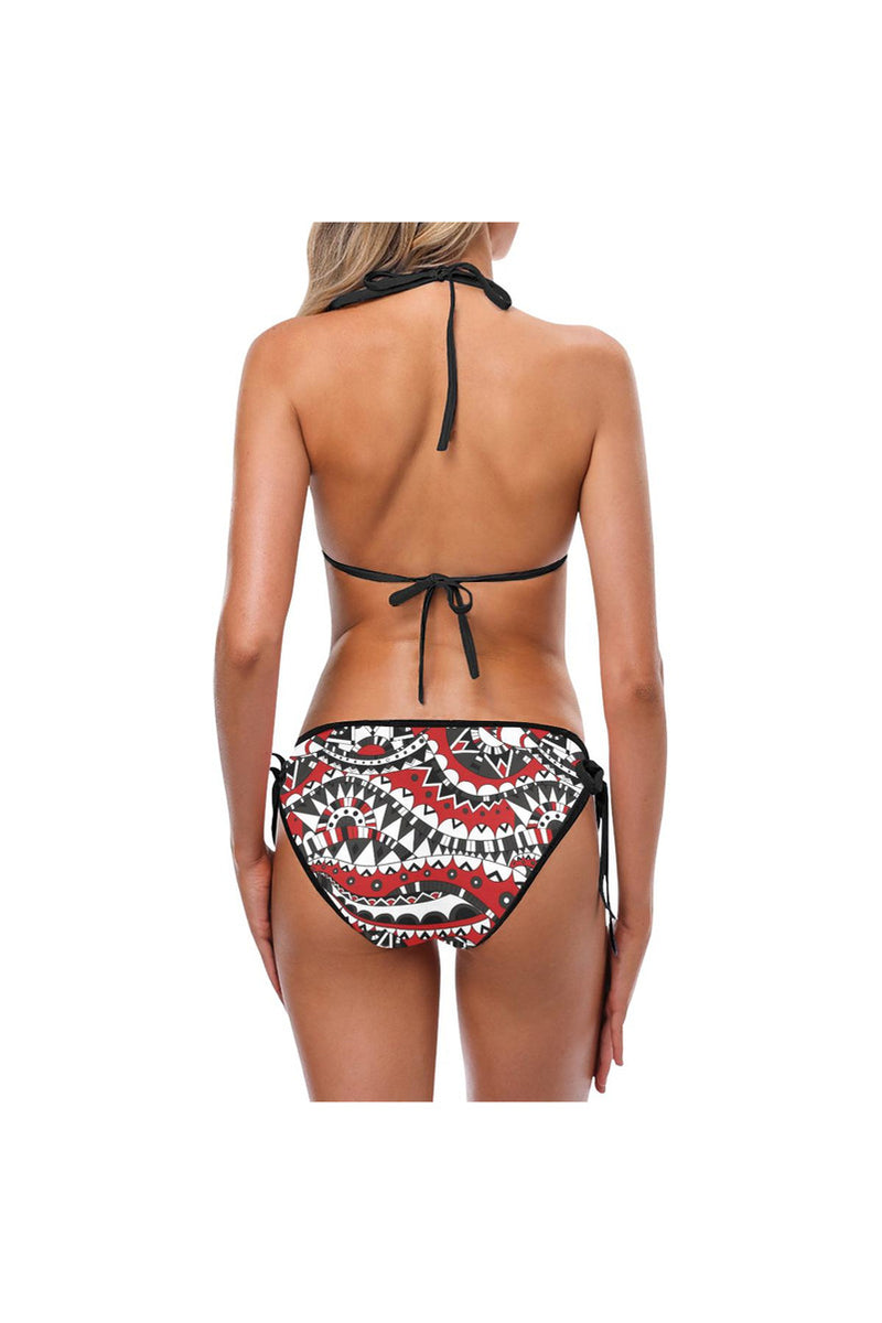 Tartan Plaid Custom Bikini Swimsuit (Model S01)