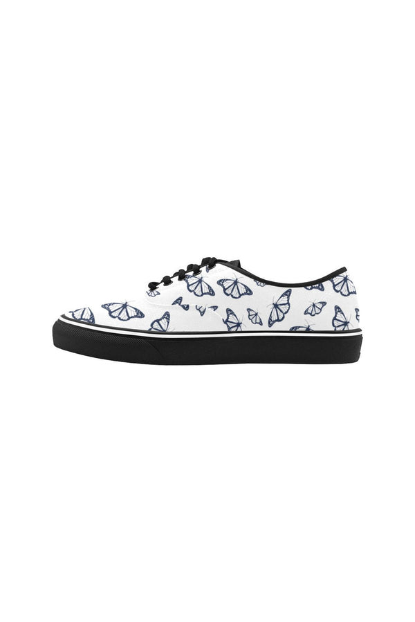 Butterflies Classic Women's Canvas Low Top Shoes (Model E001-4)