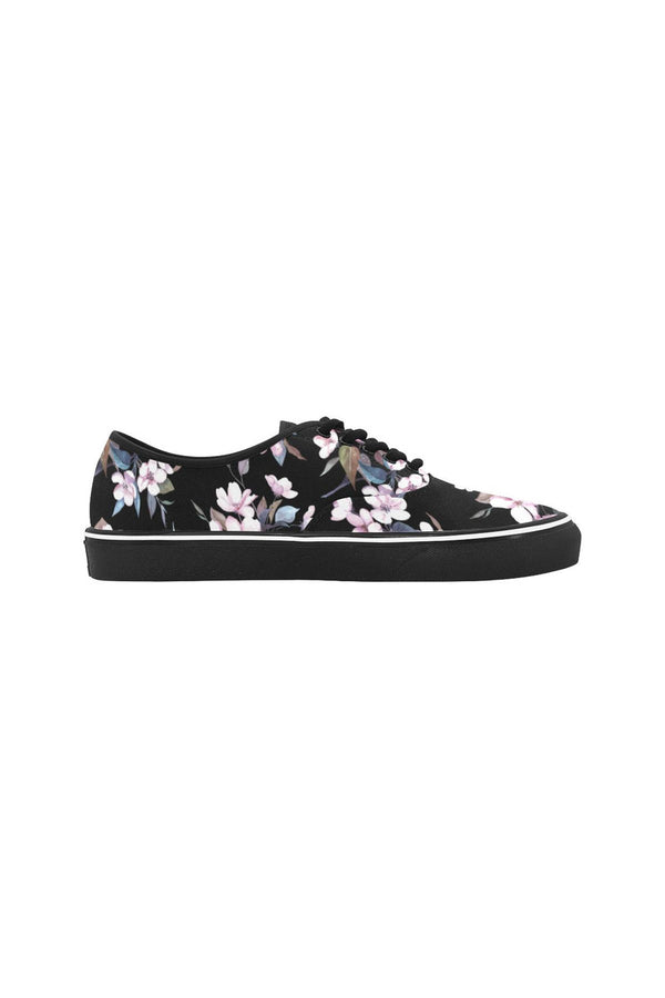 Floral Flare Classic Women's Canvas Low Top Shoes (Model E001-4)