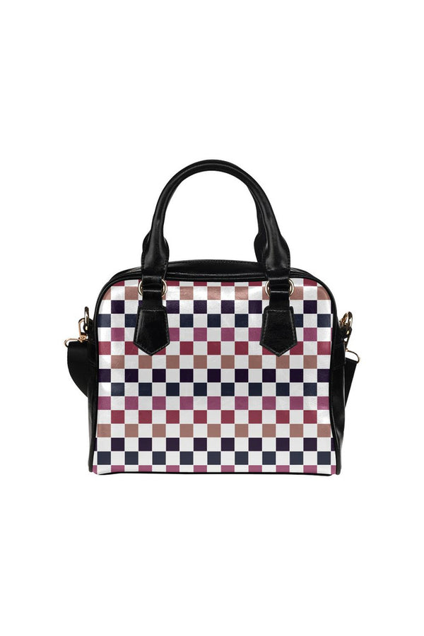 Very Berry Checkered Shoulder Handbag (Model 1634)