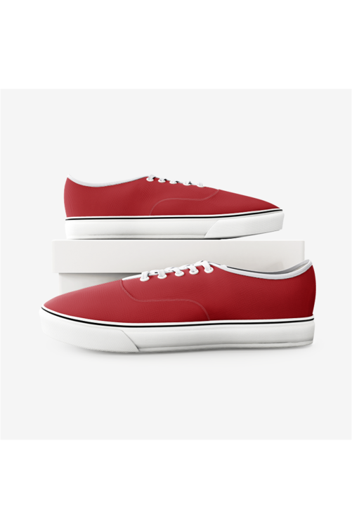 Tomato Red Unisex Canvas Shoes