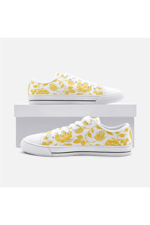 Gold Petals Unisex Low Top Canvas Shoes