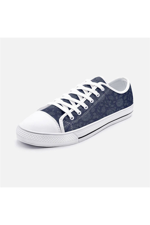 Rose Silhouette Unisex Low Top Canvas Shoes